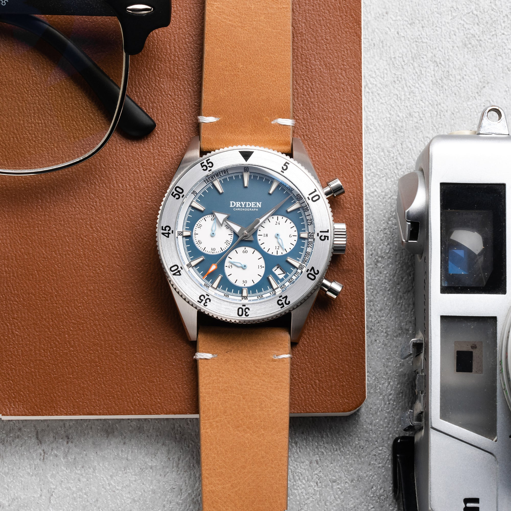 Dryden Chrono Diver Series 1 - Steel Blue