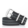 Woven Elastic Nylon Watch Strap -Black / Grey (Bond)