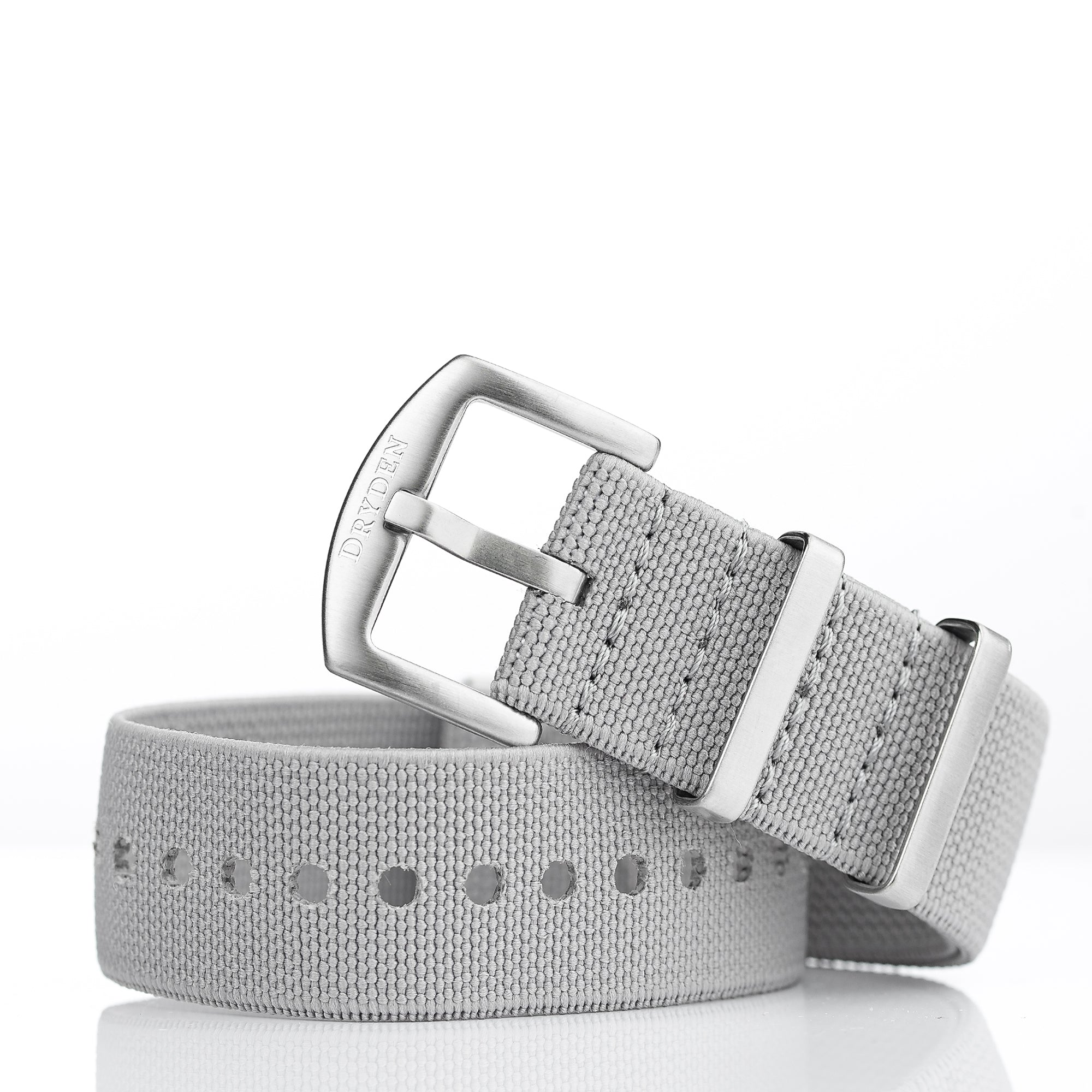 Woven Elastic Nylon Watch Strap - 22mm Grey
