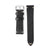 22mm Quick Release Rally Racing Leather Watch Strap - Black