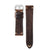 22mm Quick Release Rally Racing Leather Watch Strap - Dark Brown