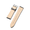 22mm Quick Release Full Stitch Leather Watch Strap - Black
