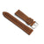 22mm Quick Release Full Stitch Leather Watch Strap - Dark Brown