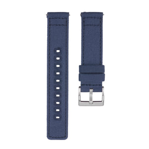 Quick Release Canvas Watch Strap - 20mm 22mm Blue