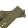Quick Release Canvas Watch Strap - 20mm 22mm Green