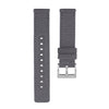 Quick Release Canvas Watch Strap - 20mm 22mm Grey