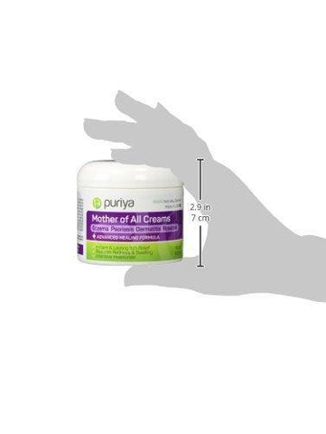 Puriya Cream For Eczema, Psoriasis, Dermatitis and Rashes. Powerful Plant Rich Formula Provides Instant and Lasting Relief For Severely Dry, Itchy, or Irritated Skin (4.5 oz)