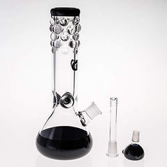 SEA Glass Smokeless Inhalers Black Glass Vase 27cm