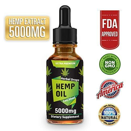 Canolane Organic Hemp Oil Drops 5000mg, Pure Full-Spectrum Support for Anxiety and Pain Relief, Natural Anti-Inflammatory, Omega Fatty Acids, Cold-Pressed Extract