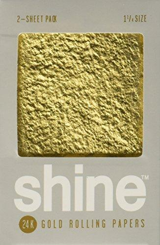 Shine 24K Gold Rolling Papers 2 Sheet Pack