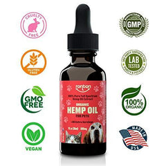 Hemp Oil for Dogs & Cats (500mg) - Rich Organic Full Spectrum Hemp Extract for Pets | Separation Anxiety Relief for Dog & Cat | Calming Joint Support & Natural Pain Relief | 100% Safe - Made in USA