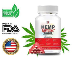 Hemp Strawberry Gummies 1000 mg - 30 Count