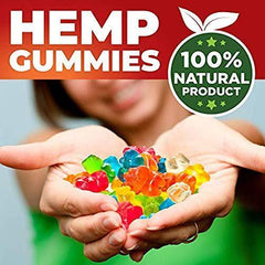 Hemp Blueberry Gummies 1000 mg - 30 Count