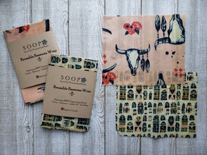 Reusable Beeswax Food Wraps - SOOP
