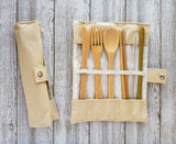 Biodegradable Bamboo Cutlery Set with Chopsticks & Straw - SOOP