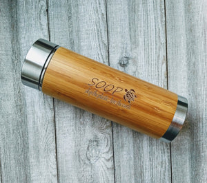 Natural Bamboo & Stainless Steel Insulated Mug