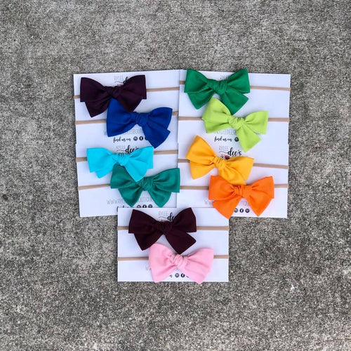 Solid Color Izzy Bow Bundles