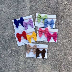 Solid Color Sailor Bow Bundles