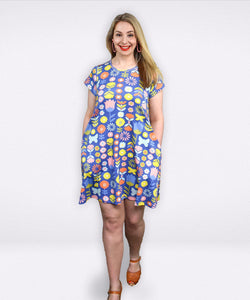 Frankie Dress | Flower Power - Souten Clothing Co