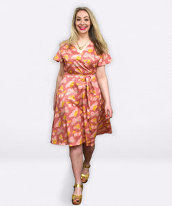 Lottie Dress | Pretty Painted Moths - Souten Clothing Co