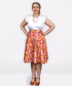Zara Skirt | Pretty Painted Moths - Souten Clothing Co