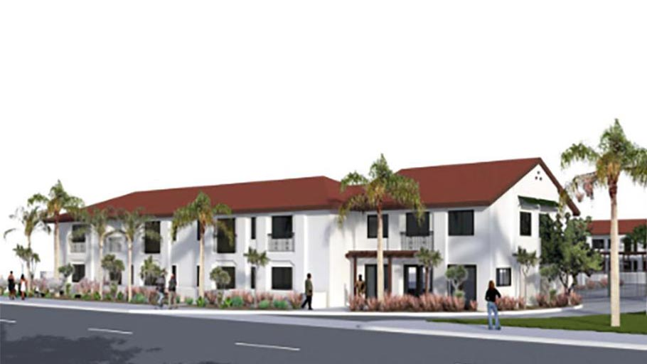 Rendering of 2691 W. La Palma a motel conversion in Anaheim