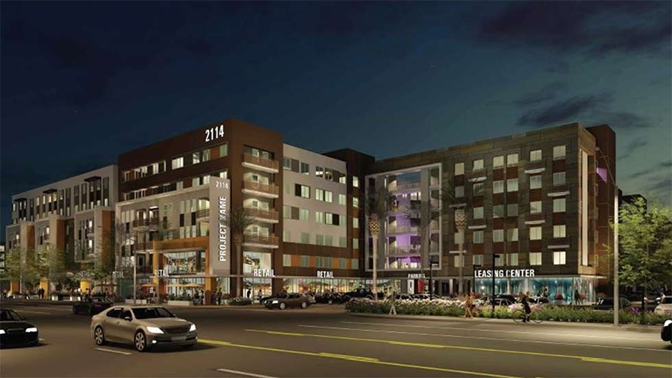 Rendering of Jamboree's 522 affordable housing development in Santa Ana, CA