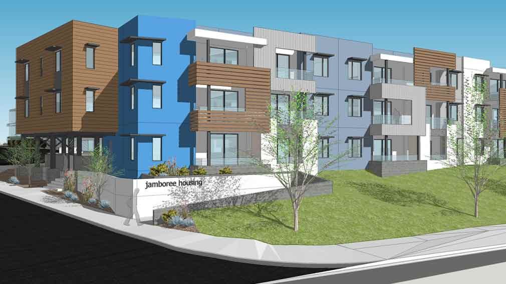 Jamboree begins construction on new permanent supportive housing San Ysidro, San Diego County.