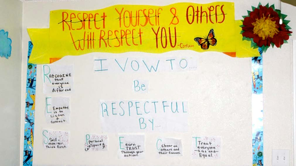 Jamboree's REACH program model teaches children self respect