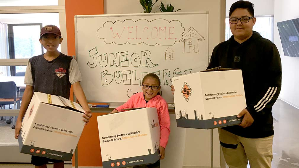 Youth from Jamboree's communities participated in the BIA Jr Builders Camp