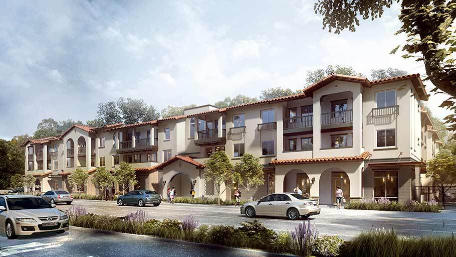Rendering of Santa Ana Veterans Village affordable housing.