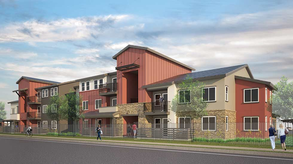 Rendering of Jamboree's Sierra Avenue affordable housing community in Fontana, CA