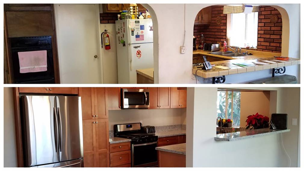 Jamboree's permanent supportive housing in Fullerton renovated kitchen.