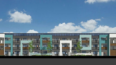 Rendering of Jamboree's North Harbor Village in Santa Ana, CA