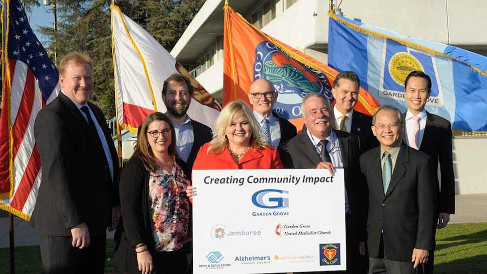 Jamboree and community partners at the Wesley Village groundbreaking in Garden Grove, CA.