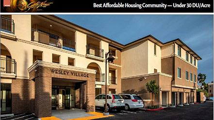 Wesley Village Grand Winner: Best Affordable Housing Community-under 30 du/acre - Gold Nugget Awards