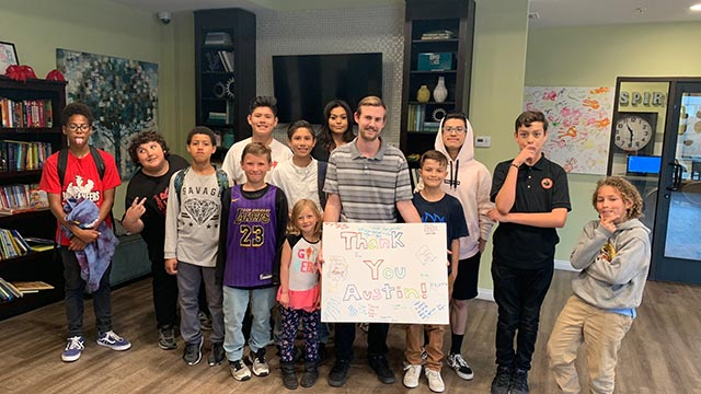 Jamboree's Rockwood affordable supportive housing residents thank college intern