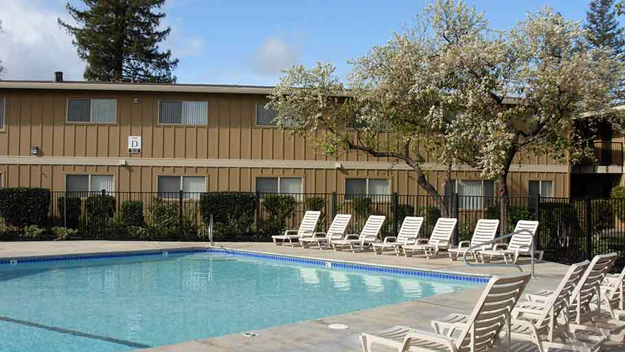 Jamboree's Asbury Place affordable family community pool Sacramento