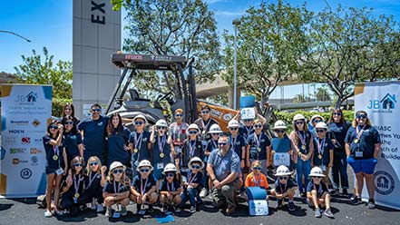 Children learn real life construction skills at BIA Jr Builder Camp