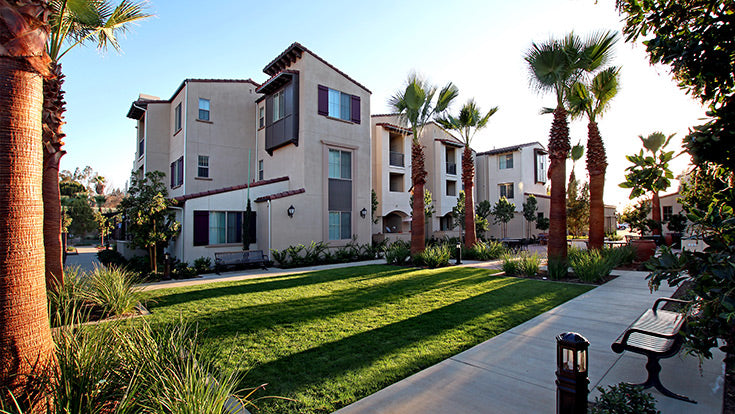 Jamboree's affordable garden style community Birch Hills in Brea, CA.
