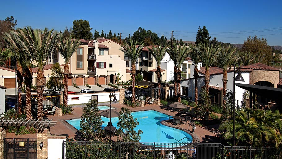 Jamboree's Birch Hills Brea CA affordable community buildings pool
