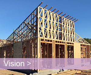 Birch Hills in Brea wood framing while under construction.