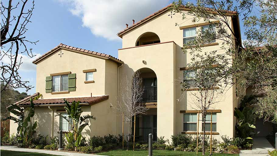 Jamboree's Bonterra family community Brea CA affordable building