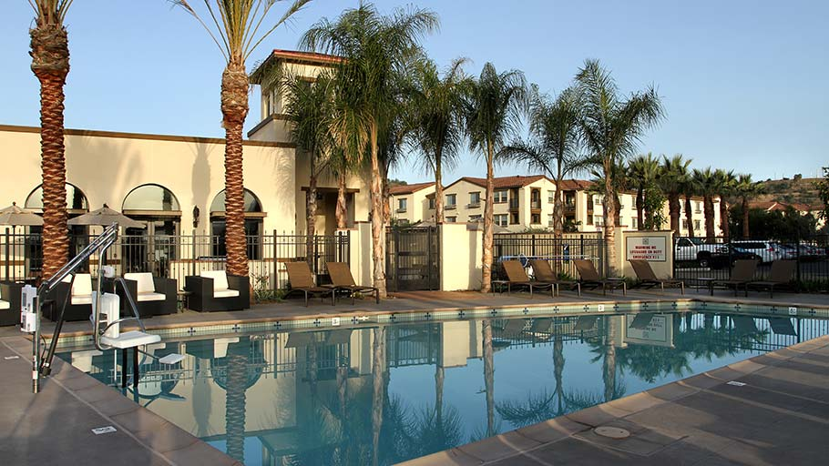 Jamboree's affordable Bonterra family pool within Brea's Blackstone