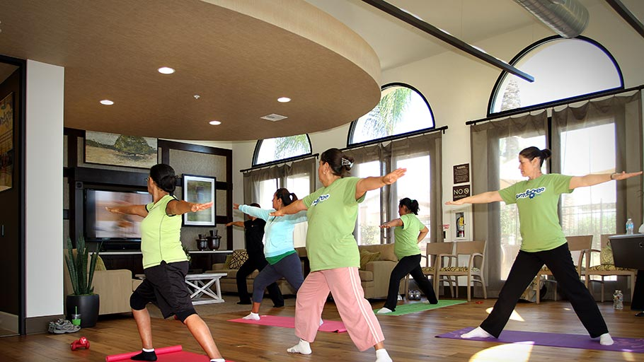 Jamboree's Bonterra affordable community resident fitness club Brea CA