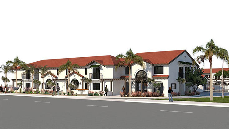 Jamboree's Buena Esperanza rendering, permanent supportive housing for formerly homeless and those with a mental health diagnosis in Anaheim, CA