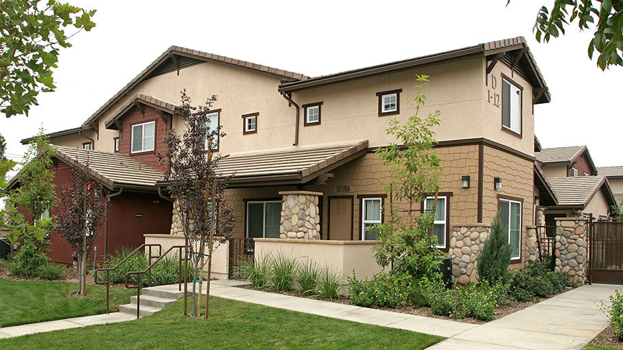 Jamboree Ceres Court Fontana community two-story gardenstyle buildings