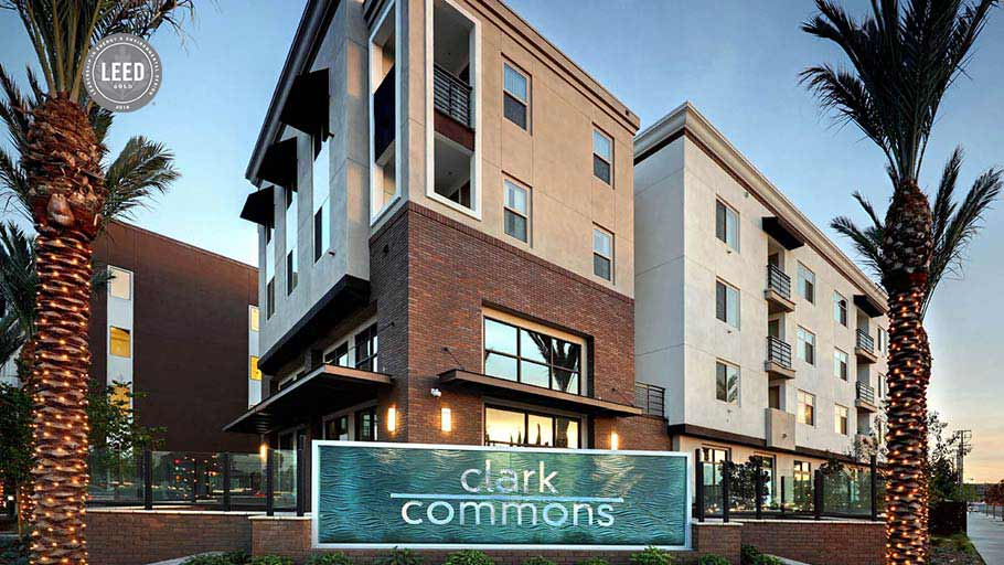 Jamboree's Clark Commons affordable housing in Buena Park, CA.