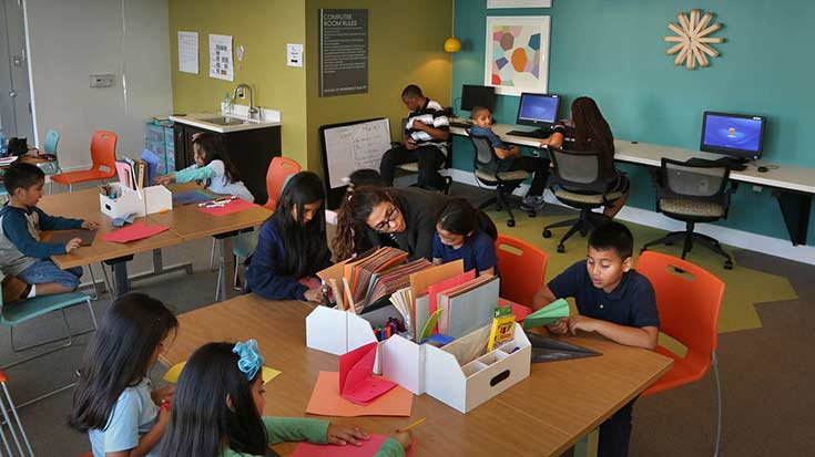 Residents at Clark Commons afterschool program in Buena Park, CA