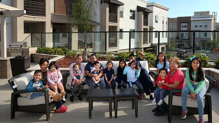 Jamboree residents at Clark Commons rooftop open community space in Buena Park, CA